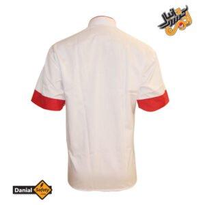 روپوش سرآشپز سفید قرمز