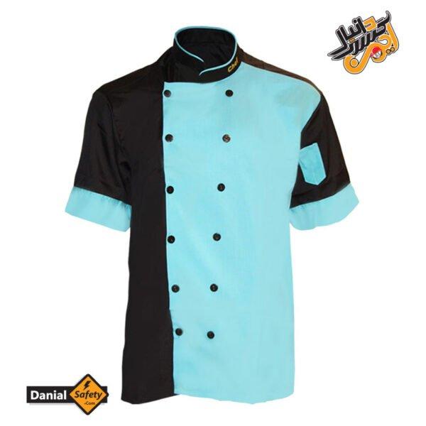 لباس کار آشپزی مدل Chef رنگ مشکی آبی