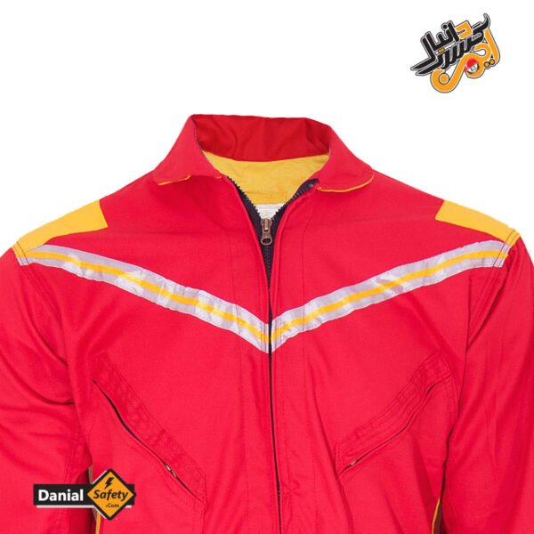 لباس کار یکسره طرح کانادایی قرمز