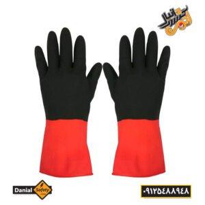 دستکش ایمنی لاستیکی صنعت کار