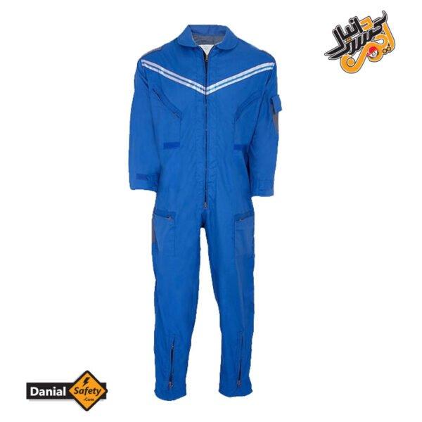 لباس کار یکسره طرح کانادایی آبی